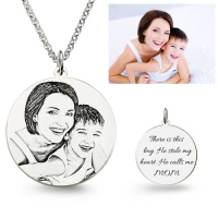 Personalized Photo Engraved Necklace