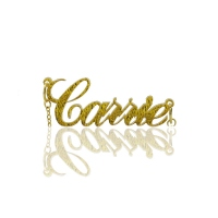 Custom Carrie Style Flashing Gold Acrylic Name Necklace