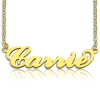 Personalized Carrie Name Necklace Gold