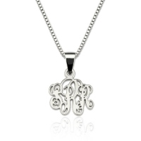 Personalized XS Monogram Necklace Sterling Silver