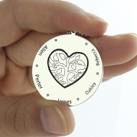 Family Tree Jewelry Necklace Engraved Names