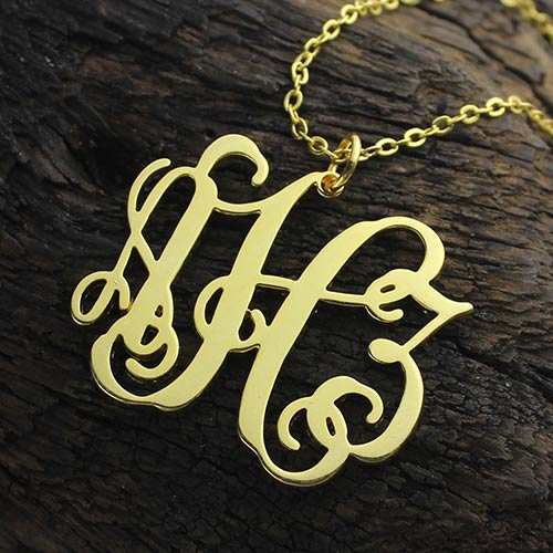 Taylor Swift Monogram Necklace 18K Gold Plated