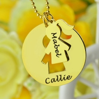Mother Daughter Necklace Set Gold