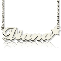 Silver Carrie Style Name Neckalce With Star