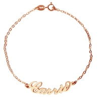 Rose Gold Carrie Style Name Bracelet
