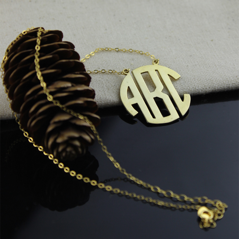 Gold Initial Monogram Necklace