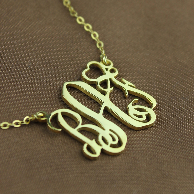 Gold Initial Necklace for Moms