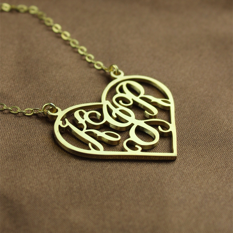 Gold Monogram Name Necklace