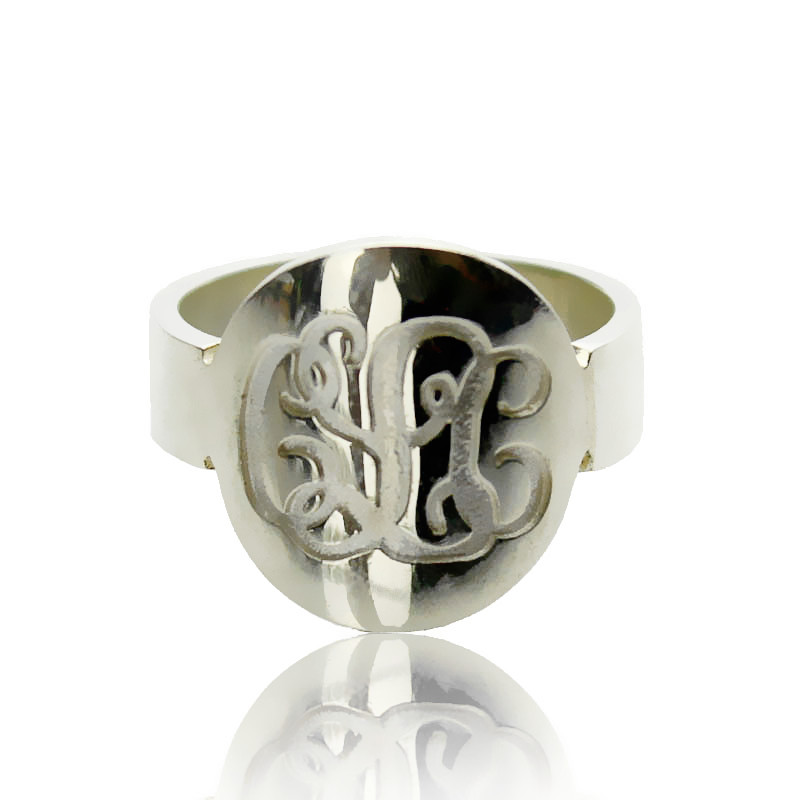 Make Your Own Monogram Itnitial Ring Sterling Silver