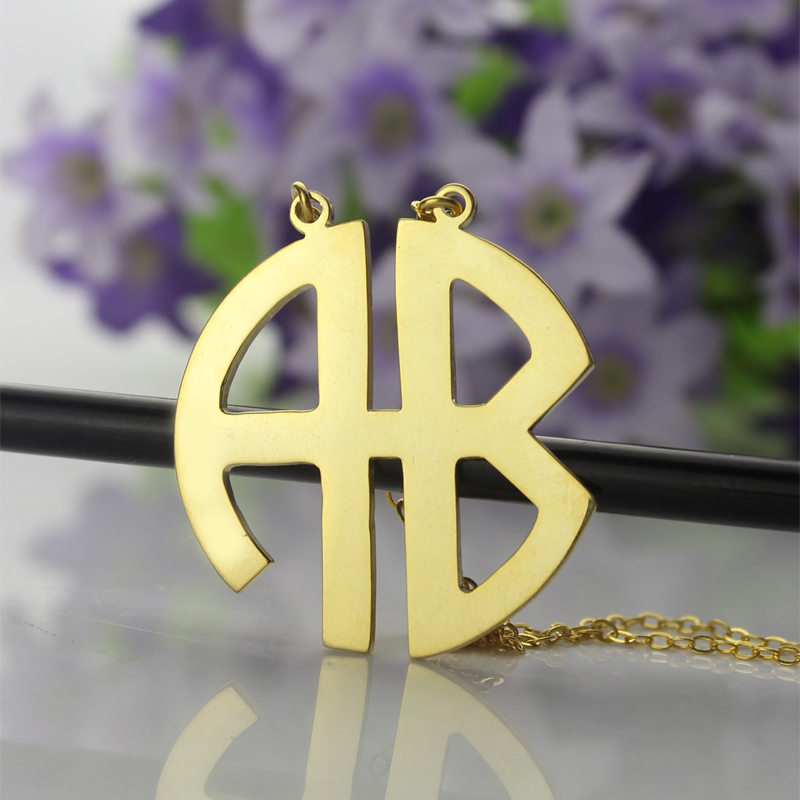 Round Initial Pendant Necklace