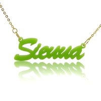 Personalized Acrylic Necklace with Name