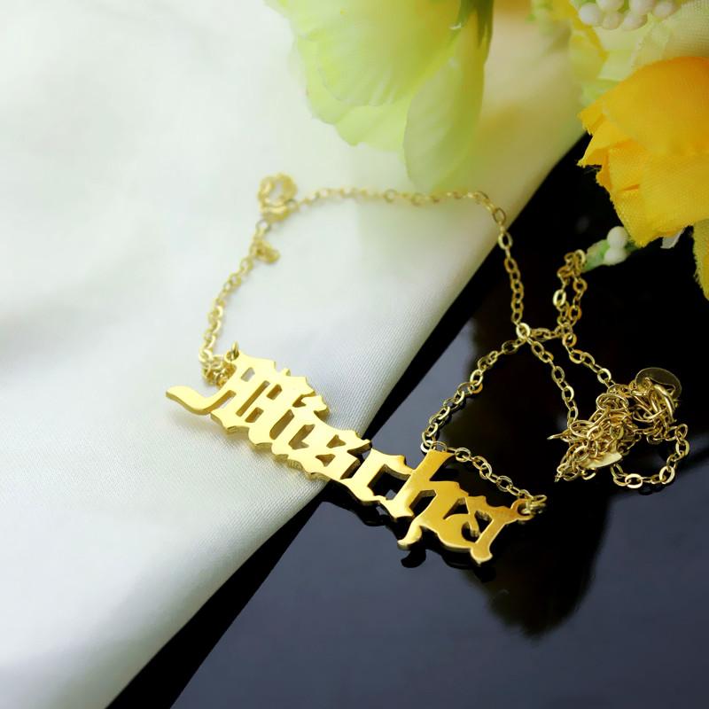 mischa barton style solid platinum name necklace. Black Bedroom Furniture Sets. Home Design Ideas