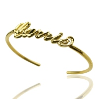 Personalized 3D CARRIE Style Name Bracelet Gifts Gold Plated Silver