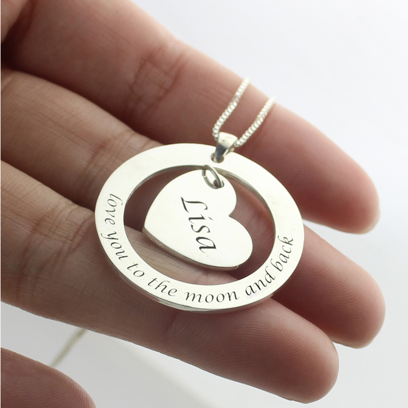I Love You To The Moon And Back Necklace Gifts For Her