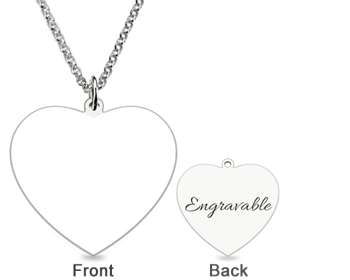 The Engravable Sterling Silver Heart Photo Necklace