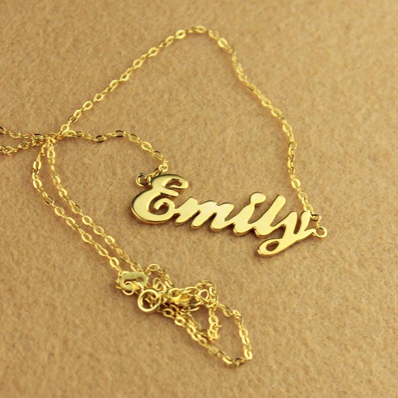 cursive script name necklace