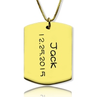 dog tag dating Personalized id dog tag bar pendant with name and birth date  when you combine this popular dog tag style with the silver or gold plated silver you create.